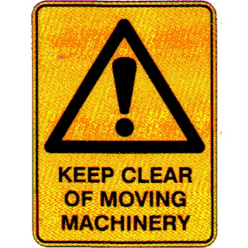 Warning Keep Clear Machinery Labels