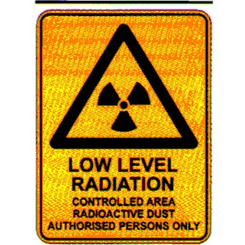 Warn Low Level Radiation Sign
