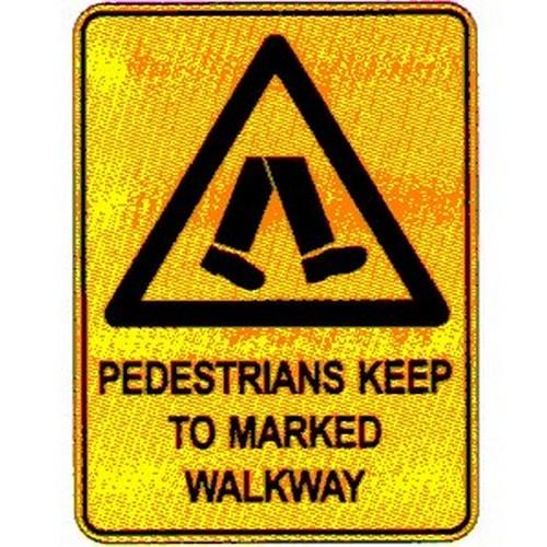 Warn Pedestrians Keep Sign