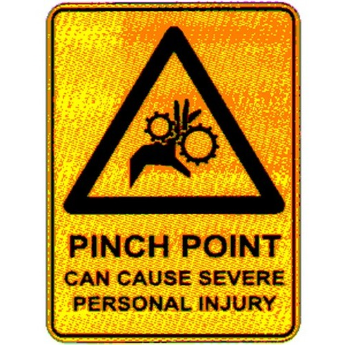 Warn Pinch Point Can Sign