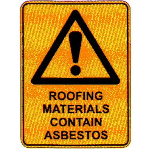 Warn-Roofing-Materials-Sign