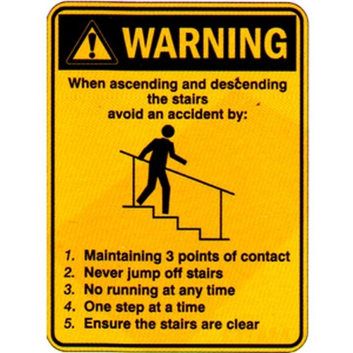 Warning When AscendingStairs Sign