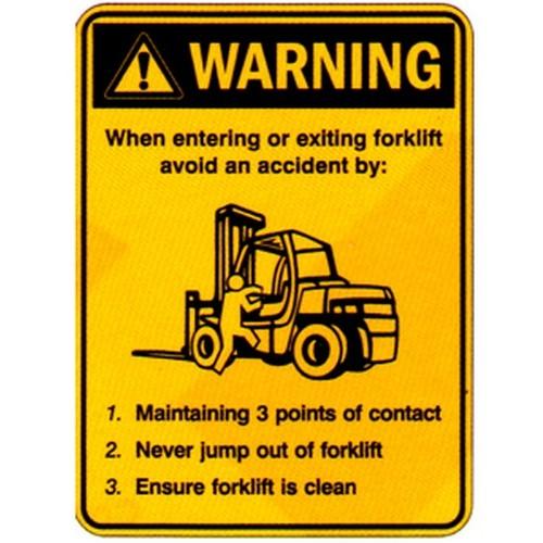 Warning When Forklift Labels