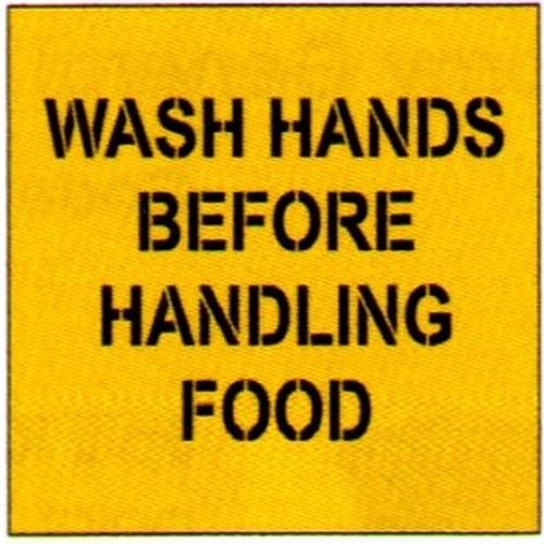 Wash Hands Before Stencil