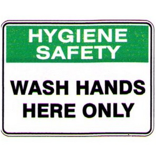 Wash Hands Here Only Sign