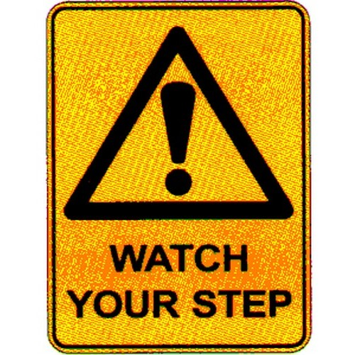 Warn Watch Your Step Sign