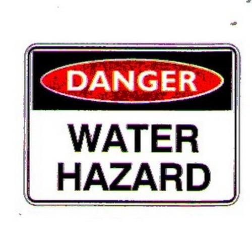 Danger Water Hazard Sign