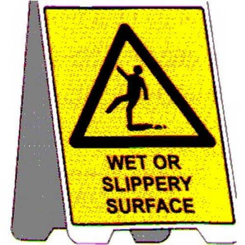 Wet Or Slippery Surface A Frame