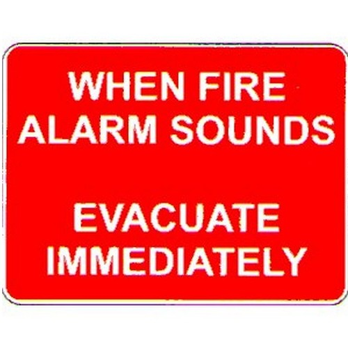 When Fire Alarm Sounds Sign