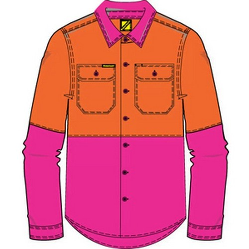 Workcraft Hi Vis Kids Shirt
