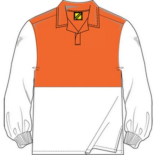 Workcraft White Orange Jac Shirt
