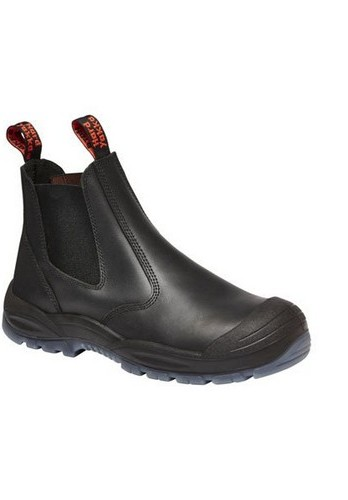 Black Utility Pull On Boots
