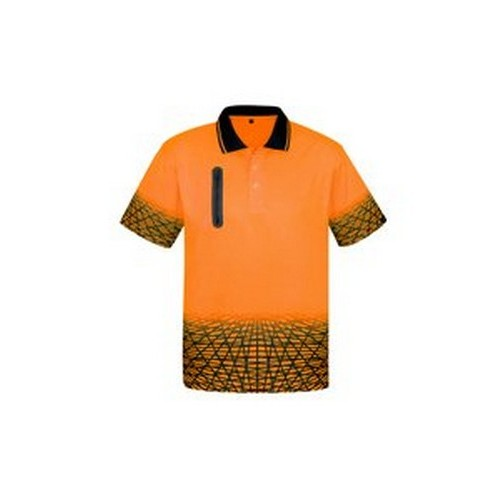 Zip Pocket Hi Vis Polo